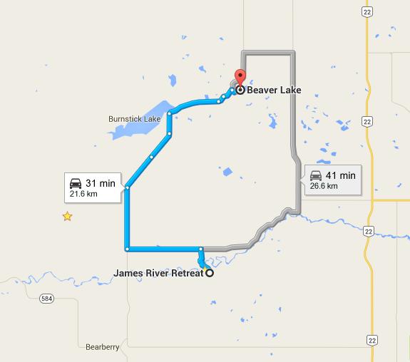 beaver lake map